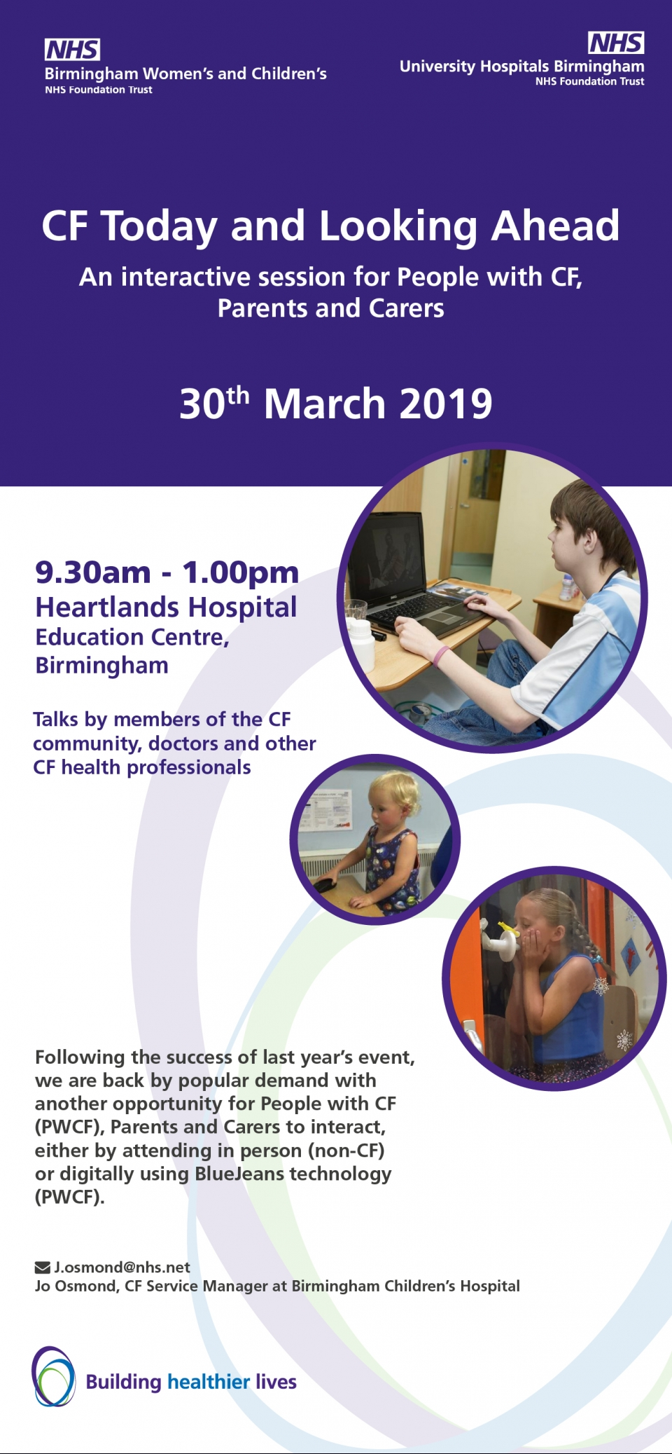'CF Today and Looking Ahead' - Saturday 30th March 2019 from 9.30-1.00 pm